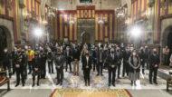 entrega de genoveves i medalles dels bombers de Barcelona