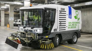 vehicle servei de neteja elèctric
