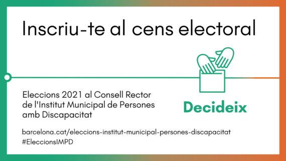 Banner inscriu-te al cens electoral per poder votar a les Eleccions IMPD.