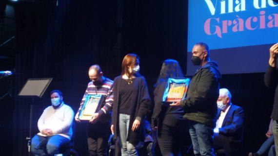 Imatge de la recollida de premis.