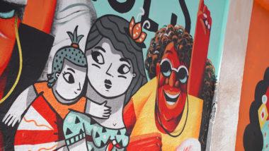 feminisme, dones, mural, La Model, Eixample, il·lustració, Femiñetas