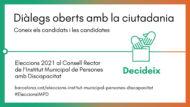 Banner Diàlegs oberts amb la ciutadania per conèixer els candidats i les candidates.
