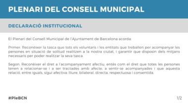 Declaració Institucional Abril 2021