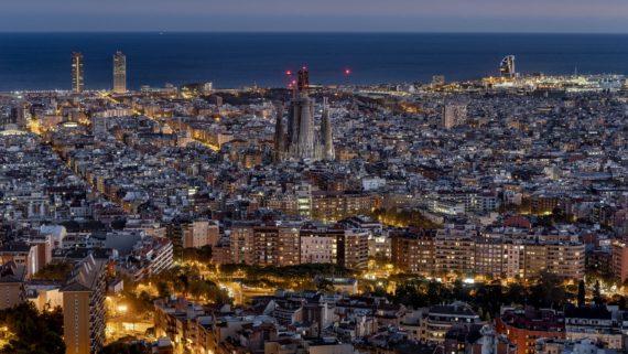 Panoràmica nocturna Barcelona