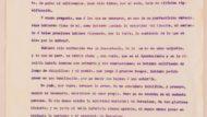 Texto manuscrito del discurso de Albert Bastardas en el que agradece el apoyo que recibió tras el conflicto de los damascos, y exposición de los motivos por los que no cambió de opinión durante el mismo (1908)