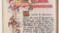 Text manuscrit amb caplletra de l'homenatge a Albert Bastardas pel seu treball com Alcalde accidental] (1906)