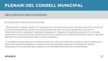 Declaració Institucional Maig 2021