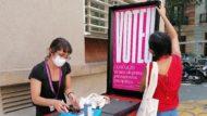 Punt mòbil suport a la votació Pressupostos participatius