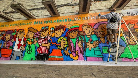 Mural Victimes Covid al Besos i el Maresme de Camil Escuela 4