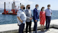 Port Olímpic. Presentació ambientalització dels dics submergits.