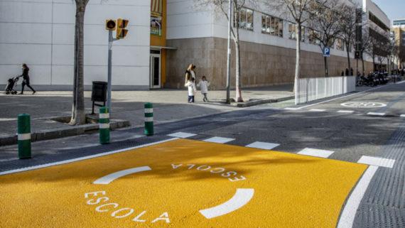 Barcelona 13.01.2020 LÕalcaldessa de Bcn, Ada Colau, presenta el programa d'actuacions per protegir els entorns dels centres educatius de Barcelona.      Foto Laura Guerrero/Ajuntament de Bcn.