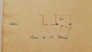 CCAM – 06.03/1K.II-C03.21: Plànol de la situació del col•lector i el pesador al Portal de Sant Antoni i a la Porta Nova, i tapes del lligall