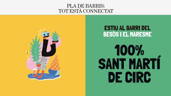 Festivalet Sant Martí de circ. Estu al barri del Besòs i el Maresme.