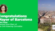 Ada Colau, vicepresidenta europea de la Comissió Directiva de C40 Cities