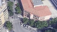 Institut Moisès Broggi. Xamfrà c. Sant Quintí amb Indústria
