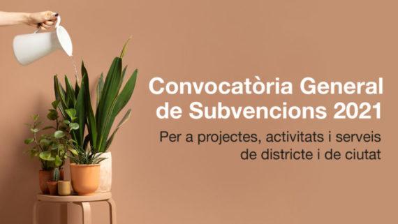 Convocatòria general de Subvencions 2021