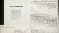 Programa, invitació i fragment del pregó elaborat per la inauguració del III Congrés Universitari Català (5D72-26.7)