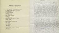Programa i fragment de la ponència elaborada pel cicle de conferències: Quaranta anys d'exilis (1939-1975). Memòria i història. (5D72-26.14)