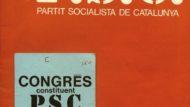 Acreditació pel Congrés fundacional del PSC i programa fundacional (5D72-28.1)