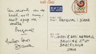 Postal enviada per Pasqual Maragall i Diana Garrigosa des de Seul 1988 (durant els Jocs Olímpics) a Jordi Maragall (5D72-11)