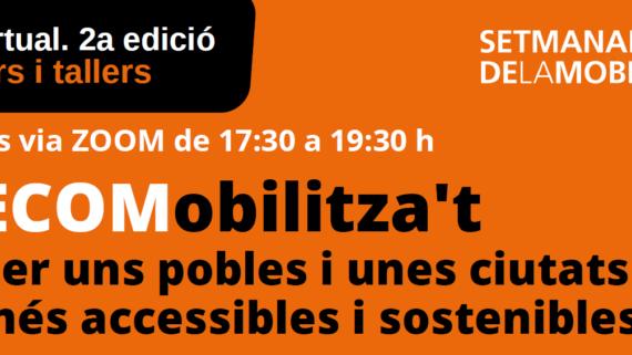 Imatge promocional del cicle de webinars i tallers ECOMobilitza't