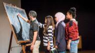 Joves participant al programa de creació artística EnResidència