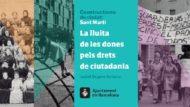 """Fotocomposició amb les imatges de la portada del llibre """"Constructores de ciutat: Sant Martí"""""""